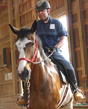 Jimmy Wins Horseback Riding Award